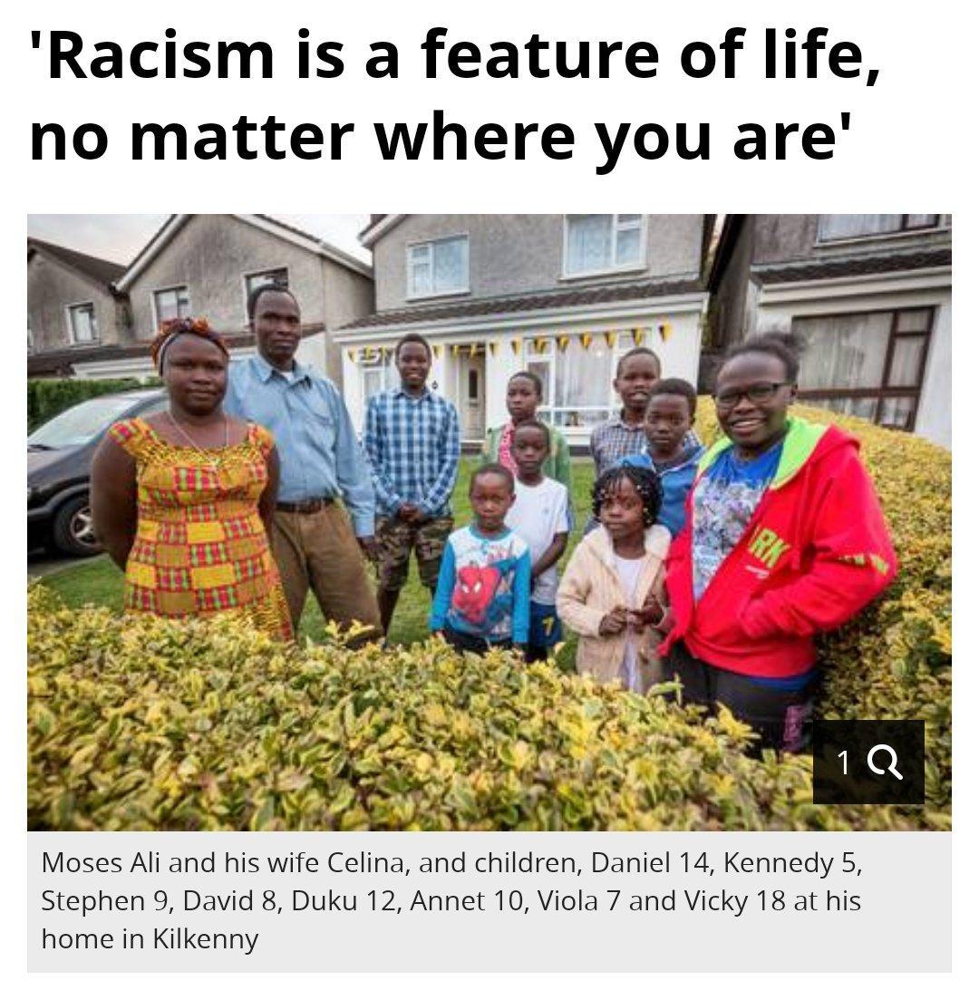 SUDANESE FAMILY OF TEN HOUSED IN KILKENNY  BY KK COUNCIL IMMEDIATELY ON ARRIVAL IN IRELAND.
